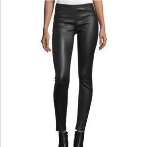Halston Heritage Leather Leggings